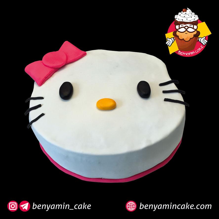 کیک طرح کیتی
