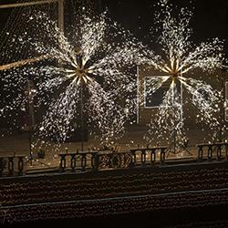 آتش بازی باغ تالار مجنون تهران