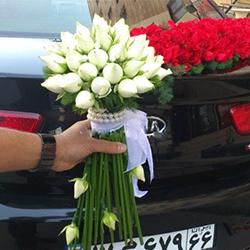 گل ماشین عروس و دسته گل عروس